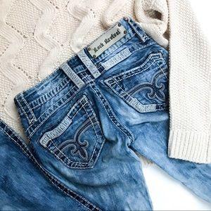 Rock Revival Amy Bootcut Acid Wash Jeans